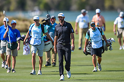 March 21, 2018 - Austin, TX, U.S. - AUSTIN, TX - MARCH 21: Dustin Johnson walks up the fairway during the First Round of the WGC-Dell Technologies Match Play on March 21, 2018 at Austin Country Club in Austin, TX. (Photo by Daniel Dunn/Icon Sportswire) (Credit Image: © Daniel Dunn/Icon SMI via ZUMA Press)