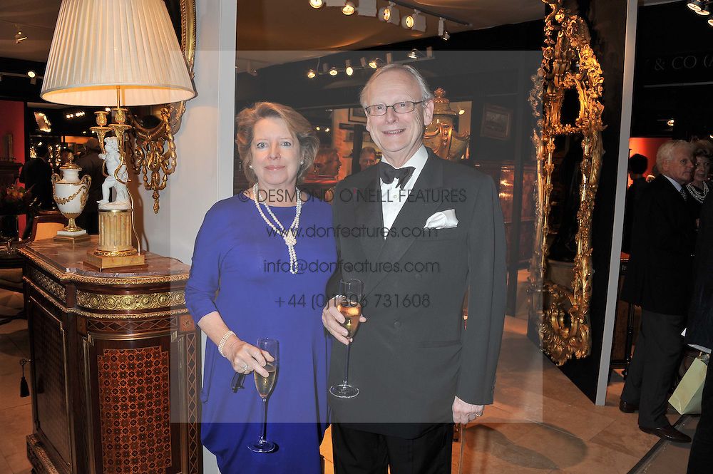 LORD & LADY DEBEN at a preview evening of the annual London LAPADA (The Association of Art & Antiques Dealers) antiques Fair held in Berkeley Square, London on 20th September 2011.
