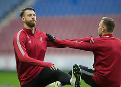 Bristol City warm up before the match - Mandatory by-line: Jack Phillips/JMP - 11/01/2020 - FOOTBALL - DW Stadium - Wigan, England - Wigan Athletic v Bristol City - English Football League Championship