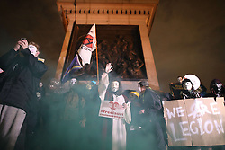 November 5, 2016 - London, London, UK - London , UK . Supporters of Anonymous , many wearing Guy Fawkes masks , attend the Million Mask March bonfire night demonstration , in central London  (Credit Image: © Joel Goodman/London News Pictures via ZUMA Wire)