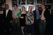 DAVID MICHAELS,  JULIAN KNOWLES , CHARLOTTE LUCAS, BLINNE NI GHRŒLAIGH,  PHILIPPE SANDS AND THOMAS WHEATLEY , Opening night of 'Called To Account' The Tricycle  Theatre. London. 23 April 2007.  -DO NOT ARCHIVE-© Copyright Photograph by Dafydd Jones. 248 Clapham Rd. London SW9 0PZ. Tel 0207 820 0771. www.dafjones.com.