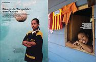 "Bild Kunst Gefördertes Projekt  ""El Golombiao - Fußball gegen Gewalt"". 2005 Brigitte"