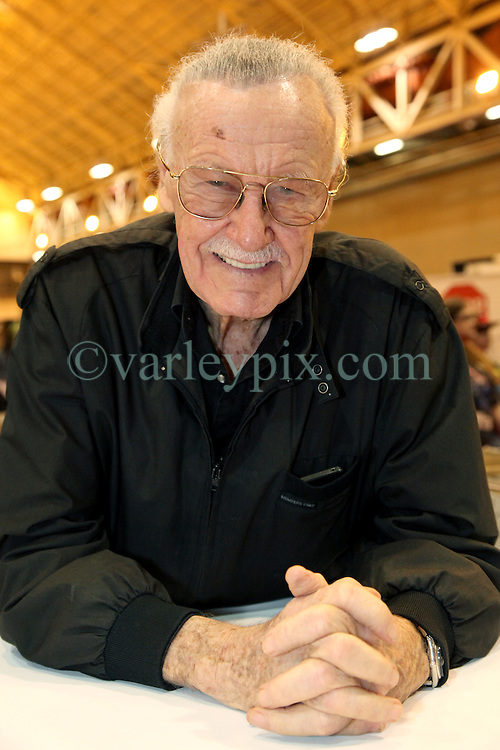 29 Jan 2012. New Orleans, Louisiana USA. <br /> Stan Lee, real life comic book hero, former president and chairman of Marvel Comics co-created some of the most enduring comic book heroes of our times. Lee's most notable characters include the Fantastic Four, Hulk, Spiderman, Thor, Iron Man, X-Men and many more. He appeared at Wizard World New Orleans Comic Con at the Ernest N Morial Convention Center. <br /> Photo; Charlie Varley/varleypix.com