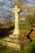 Memorial to Island of Mauritius graveyard village parish church of All Saints, Yatesbury, Wiltshire, England, UK