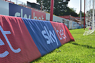 Advertising  during the EFL Sky Bet League 1 match between Accrington Stanley and Scunthorpe United at the Fraser Eagle Stadium, Accrington, England on 1 September 2018.