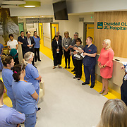 29.05. 2017.                                             <br /> IRELAND'S largest and most advanced Emergency Department has opened this Monday at University Hospital Limerick.<br /> <br /> Addressing the new Emergency Department team before it opened its doors was Dr. Fergal Cummins, Consultant in Emergency Medicine.<br /> <br /> <br /> A €24 million project (development and equipment costs), the ED spans 3,850 square metres of floor space, over three times the size of the old department. In 2016, UHL had the busiest ED in the country, with over 64,000 attendances. Picture: Alan Place