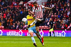 Chris Basham of Sheffield United gets the ball out of  dangerous area - Mandatory by-line: Ryan Crockett/JMP - 09/03/2019 - FOOTBALL - Bramall Lane - Sheffield, England - Sheffield United v Rotherham United - Sky Bet Championship