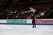 Tarah Kayne and Danny O'Shea from the USA competes in the Pairs Short Program during the ISU - Four Continents Figure Skating Championships, at the Honda Center in Anaheim California, February 5-10, 2019