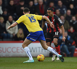 Bournemouth's Callum Wilson in action during the Sky Bet Championship match between AFC Bournemouth and Huddersfield Town at Goldsands Stadium on 14 February 2015 in Bournemouth, England - Photo mandatory by-line: Paul Knight/JMP - Mobile: 07966 386802 - 14/02/2015 - SPORT - Football - Bournemouth - Goldsands Stadium - AFC Bournemouth v Huddersfield Town - Sky Bet Championship