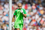 Erin Nayler (GK) (New Zealand) Player of the Match in action during the FIFA Women's World Cup UEFA warm up match between England Women and New Zealand Women at the American Express Community Stadium, Brighton and Hove, England on 1 June 2019.