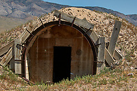 Abandoned mine outside of Rachel, Nevada. Image taken with a Nikon D300 camera and 80-400 mm VR lens.