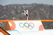 Redmond Gerard, USA, during the snowboard slopestyle practice on the 8th February 2018 at Phoenix Snow Park for the Pyeongchang 2018 Winter Olympics in South Korea