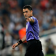 Referee's Bulent Yildirim during their Turkish Superleague soccer derby match Besiktas between Galatasaray at the Inonu Stadium at Dolmabahce in Istanbul Turkey on Thursday, 26 August 2012. Photo by TURKPIX