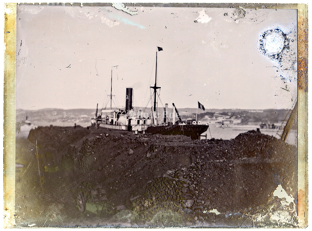 sand piled up in harbor bay early 1900s