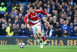 May 8, 2017 - London, England, United Kingdom - Marten de Roon of Middlesbrough during Premier League match between Chelsea and Middlesbrough at Stamford Bridge, London, England on 08 May 2017. (Credit Image: © Kieran Galvin/NurPhoto via ZUMA Press)