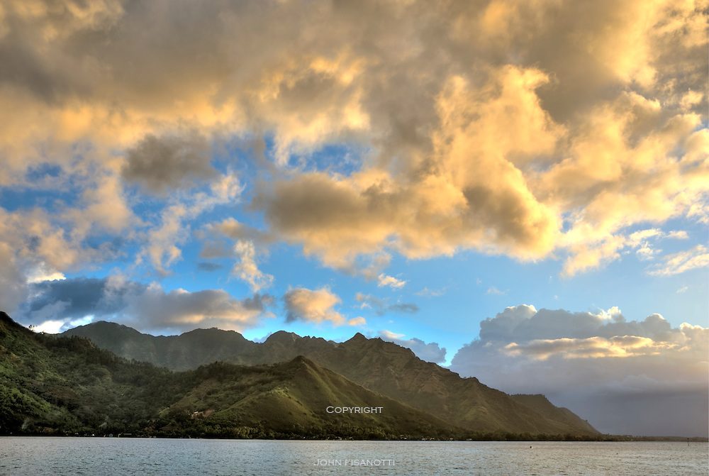 Sunset from Opunohu Bay, Moorea