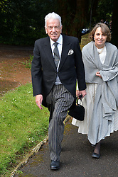NICKY HASLAM at the wedding of Princess Florence von Preussen second daughter of Prince Nicholas von Preussen to the Hon.James Tollemache youngest son of the 5th Lord Tollemache held at the Church of St.Michael & All Angels, East Coker, Somerset on 10th May 2014.