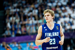 Lauri Markkanen of Finland during basketball match between National Teams of France and Finland at Day 1 of the FIBA EuroBasket 2017 at Hartwall Arena in Helsinki, Finland on August 31, 2017. Photo by Vid Ponikvar / Sportida