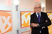 Programmapresentatie Omroep MAX in Studio 23, Hilversum.<br /> <br /> op de foto:  Omroepbestuurder en televisiepresentator Jan Slagter
