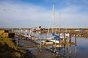 Boats on the River Blyth at Southwold harbour and Walberswick, Suffolk, England