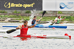 08.08.2014, Moskau, RUS, ICF, Kanu WM 2014, Tag 2, im Bild Markus Mandy Swoboda (AUT) wird in Moskau Weltmeister im KI (TA) 200m // durin day two of 2014 ICF Canoe Sprint World Championships in Moskau, Russia on 2014/08/08. EXPA Pictures © 2014, PhotoCredit: EXPA/ Eibner-Pressefoto/ Freise<br /> <br /> *****ATTENTION - OUT of GER*****