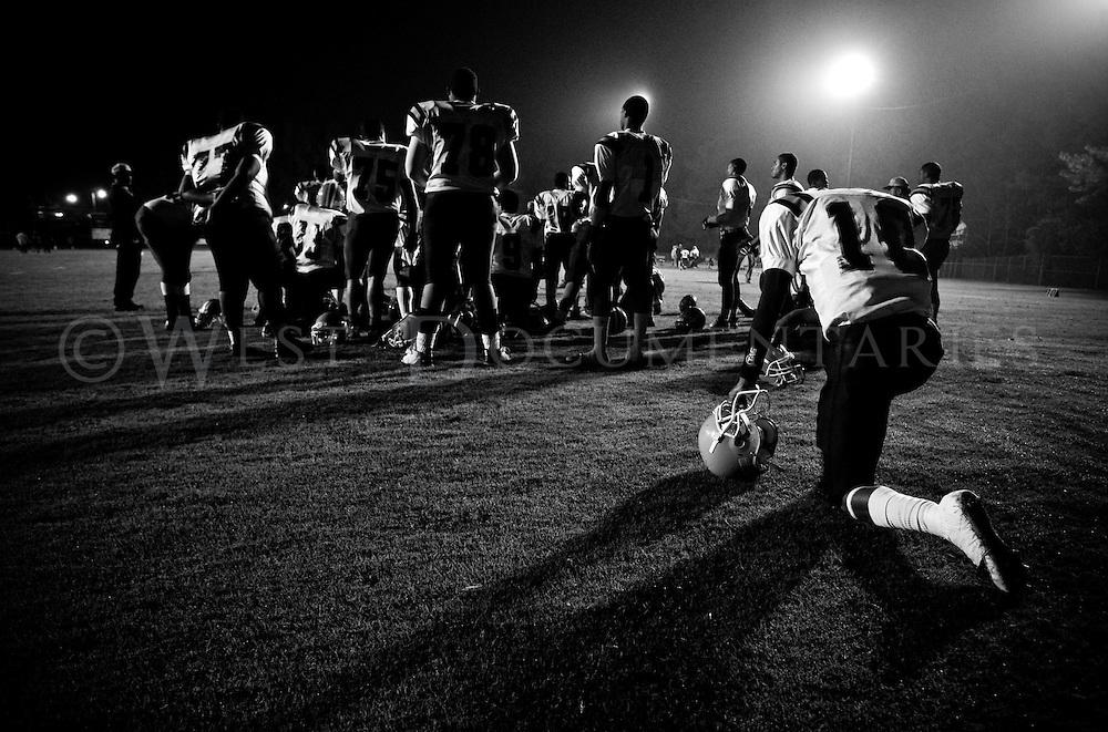 Chapel Hill Tigers vs. Henderson Raiders. Homecoming game at Chapel Hill High School, Chapel Hill, N.C.