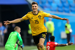 July 14, 2018 - Saint Petersburg, Russia - Thomas Meunier of the Belgium national football team celebrates after scoring a goal during the 2018 FIFA World Cup Russia 3rd Place Playoff match between Belgium and England at Saint Petersburg Stadium on July 14, 2018 in St. Petersburg, Russia. (Credit Image: © Igor Russak/NurPhoto via ZUMA Press)