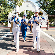 Nordhoff High School Marching Band performs in Libbey Park on June 8, 2013 in Ojai, California.