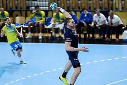 Dainis Kristopans of Paris during handball match between RK Celje Pivovarna Lasko (SLO) and Paris Saint-Germain Handball (FRA) in Round of 16 of EHF Champions League 2020/21, on April 1, 2021 in Arena Zlatorog, Celje, Slovenia. Photo by Vid Ponikvar / Sportida