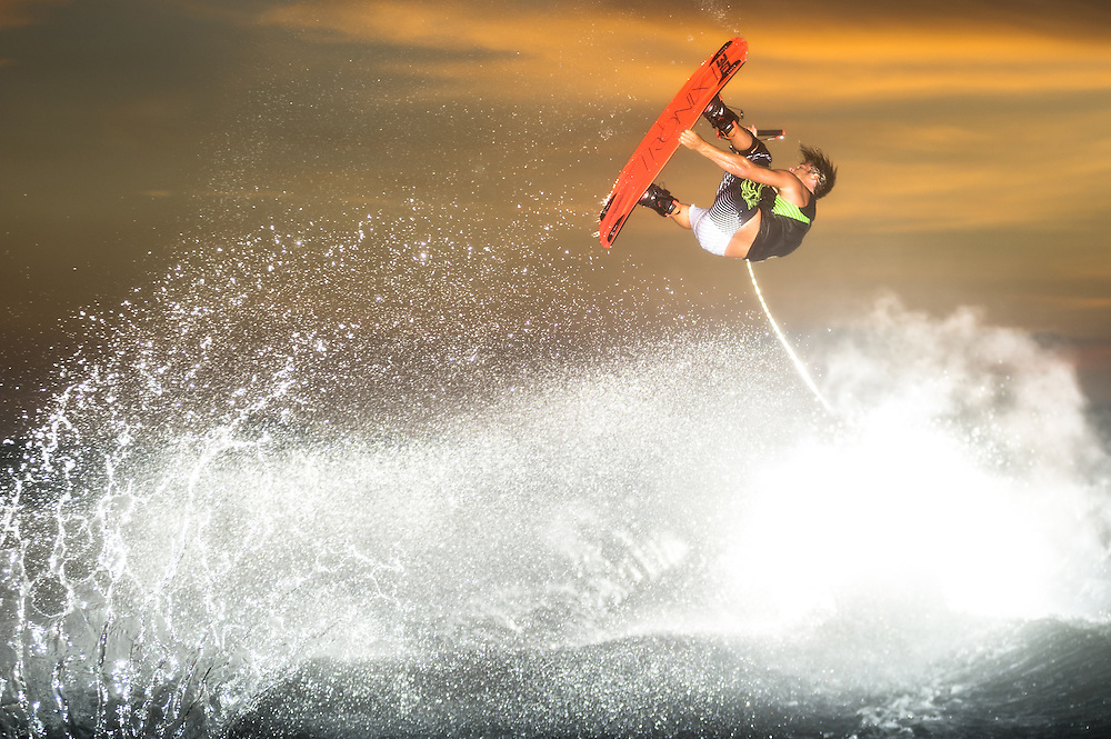 Danny Harf shot for Transworld Wakeboarding Magazine in Clermont, Florida.