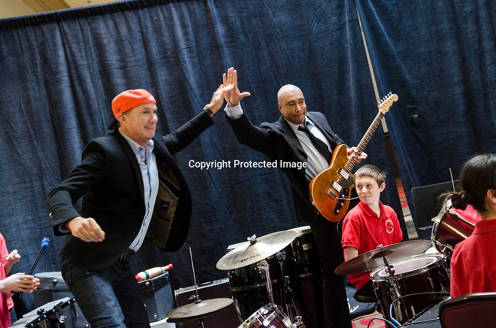 Chad Smith and Bernie Williams perform during a VH1 Save The Music Foundation event at Washington Court Hotel on March 20, 2013 in Washington, DC.