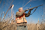 Rick Riley and his grandson, Ian Spencer, from Glouster, Ohio, hunt pheasants at Federal Valley Pheasant Farm and Hunting Preserve on East Kasler Creek Road in Amesville, Ohio on March 5, 2017. Hunting for sport is common around Amesville. During deer season, people from other states flock to the area to lease land for hunting.