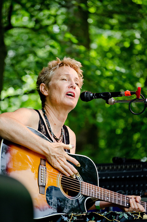 Eliza Gilkyson with Red Horse performing on the Grove Stage at the 2011 Appel Farm Arts & Music Festival in Elmer, NJ.