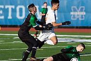 Marathon  plays Fillmore  in a New York State Public High School Athletic Association Class D boys' soccer semifinal game at  in Middletown, N.Y., on Nov.16, 2019.