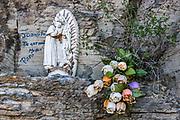 Memorial near San Francisco de la Sierra, Baja, Mexico