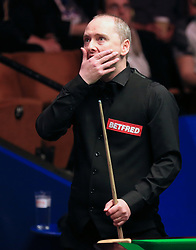 Graeme Dott on day five of the Betfred Snooker World Championships at the Crucible Theatre, Sheffield.