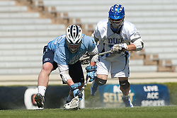 26 April 2009: North Carolina Tar Heels midfielder Shane Walterhoefer (25) during a 15-13 loss to the Duke Blue Devils during the ACC Championship at Kenan Stadium in Chapel Hill, NC.