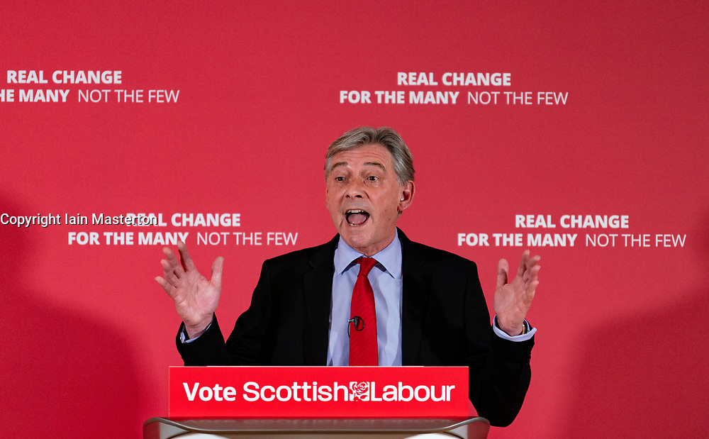 Scottish Labour Party leader Richard Leonard at launch of Scottish Labour's European Elections campaign at The Lighthouse in Glasgow ,May 2019.