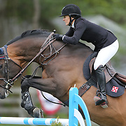 NORTH SALEM, NEW YORK - May 15: Heather Caristo-Williams, USA, riding Qui Vive Des Songes Z, in action during The $50,000 Old Salem Farm Grand Prix presented by The Kincade Group at the Old Salem Farm Spring Horse Show on May 15, 2016 in North Salem. (Photo by Tim Clayton/Corbis via Getty Images)
