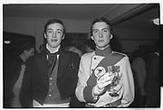 NICK BURGE, JAMES SAINSBURY, ASSASSINS DRINKS PARTY. Dress: Revelations. Oxford.