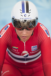 September 19, 2017 - Bergen, NORWAY - 170919 Thea Thorsen of Norway in the warm up zone ahead of the Women Elite Individual Time Trial on September 19, 2017 in Bergen..Photo: Jon Olav Nesvold / BILDBYRN / kod JE / 160022 (Credit Image: © Jon Olav Nesvold/Bildbyran via ZUMA Wire)