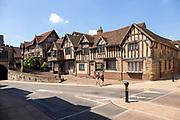 Lord Leycester Hospital medieval buildings, Warwick, Warwickshire, England, UK