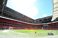 a general view Inside Wembley stadium before k.o . Skybet football league one play off final match , Leyton Orient  v Rotherham Utd at Wembley Stadium in  London on Sunday 25th May 2014.<br /> pic by John Patrick Fletcher, Andrew Orchard sports photography.