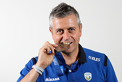 Alessandro Chiappini, head coach of Slovenia with silver medals after the volleyball match between National team of Turkey and Slovenia in Gold Medal game of Womens U23 World Championship 2017, on September 17, 2017 in SRC Stozice, Ljubljana, Slovenia. Photo by Morgan Kristan / Sportida
