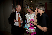 CHARLES SAUMERAZ SMITH, GRAYSON PERRY AND PHILLIPA PERRY, 240th Royal Academy Summer Exhibition fundraising private view. Piccadilly. London.4 June 2008.  *** Local Caption *** -DO NOT ARCHIVE-© Copyright Photograph by Dafydd Jones. 248 Clapham Rd. London SW9 0PZ. Tel 0207 820 0771. www.dafjones.com.