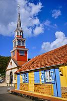 France, Martinique, les Anses d'Arlet, ville de la Grande Anse, église Saint-Henri // France, West Indies, Martinique, les Anses d'Arlet, town of Grande Anse, Saint-Henri church