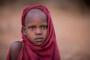 TANZANIA. Longido Mountain Area..August 3rd 2009..A Maasai kid.