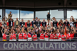 Congratulation, Arsenal Ladies FC beat Chelsea Ladies FC 1-0 and win the SSE Women's FA Cup - Mandatory byline: Jason Brown/JMP - 14/05/2016 - FOOTBALL - Wembley Stadium - London, England - Arsenal Ladies v Chelsea Ladies - SSE Women's FA Cup