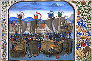 Battle of Sluyss from Jean Froissart's Chronicles, 15th century