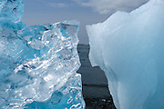 Stranded icebergs at Jökulsárlón, Iceland